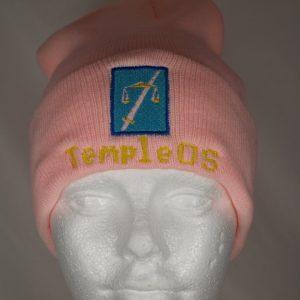 TempleOS pink beanie
